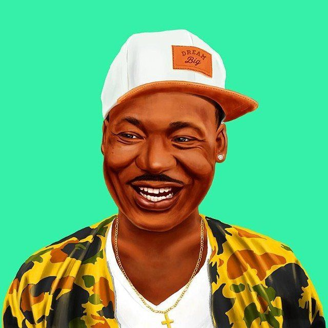 Martin Luther King Jr.  This Creative Artist Re-Imaged 18 World Leaders As Hipsters • BoredBug