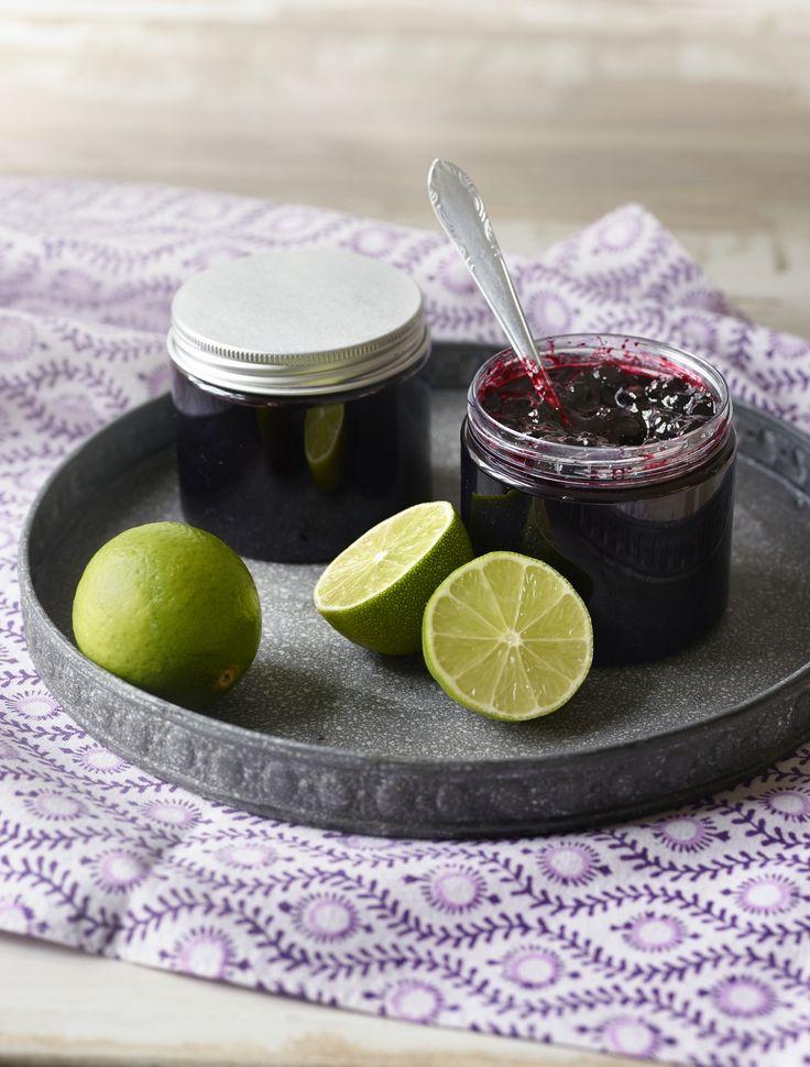 Mikä mahtava makupari! Lime hellii mustikan tuttua makua, kokeile rohkeasti. #hillohetki #lime #mustikka