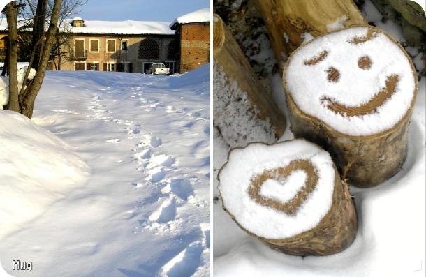 smiling snow in Coazzolo (Langhe -Italy)  Photo@BarbaraMugnai