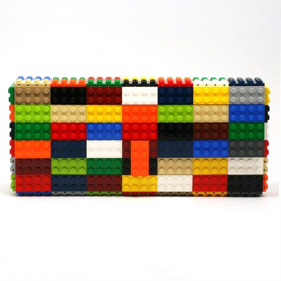 Multicolor clutch purse  bulk version  made with LEGO®