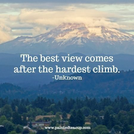 The best view comes after the hardest climb. Here are 6 quotes to encourage you and bring you hope when you are feeling frustrated, overwhelmed and feel like you've hit rock bottom. Mental health quotes | rock bottom quotes | quotes about hope | quotes about change