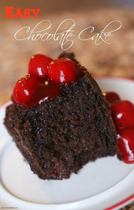 You have to try this Moist Chocolate Cake Recipes with Cherries and and cookie butter. Make this in the oven or the crockpot.