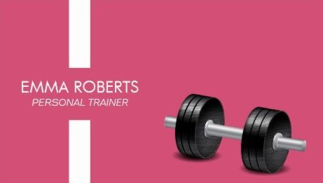 Modern Stripe Girly Pink With Weights Fitness Personal Trainer Business Cards http://www.zazzle.com/modern_stripe_pink_fitness_personal_trainer_business_card-240667810187151800?rf=238835258815790439&tc=GBCFitness1Pin