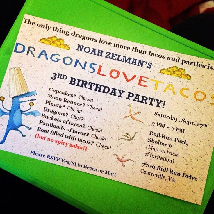 51 best Noah\'s Dragons Love Tacos Party images on Pinterest ...