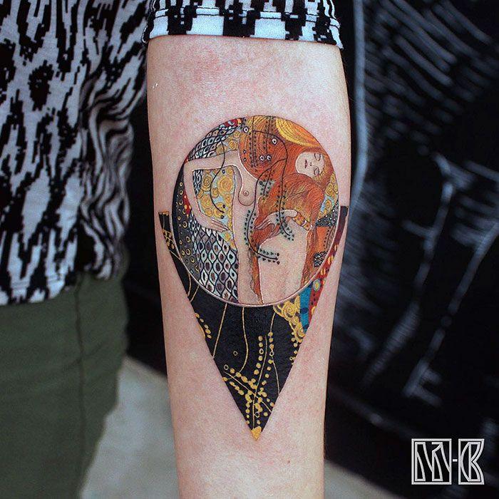 14 Tatuajes de obras de Gustav Klimt para mostrar tu lado artístico
