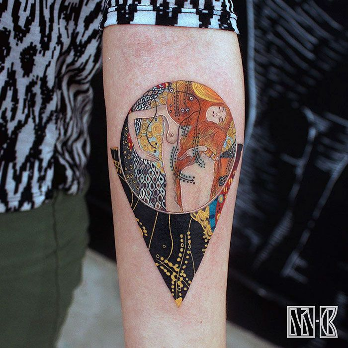 10+ Gustav Klimt Tattoos To Show Your Artistic Side   Bored Panda