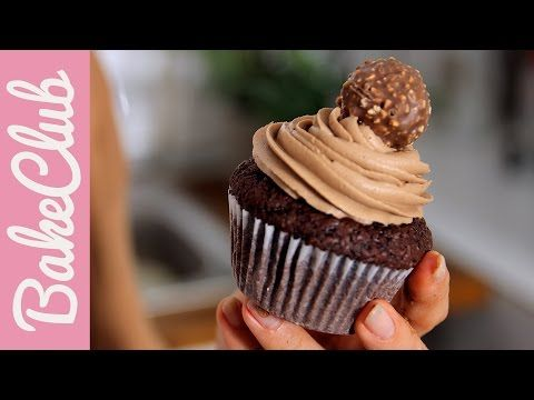 Cupcakes σοκολάτας Ferrero Rocher με κρέμα Nutella (Video) | Συνταγές - Sintayes.gr