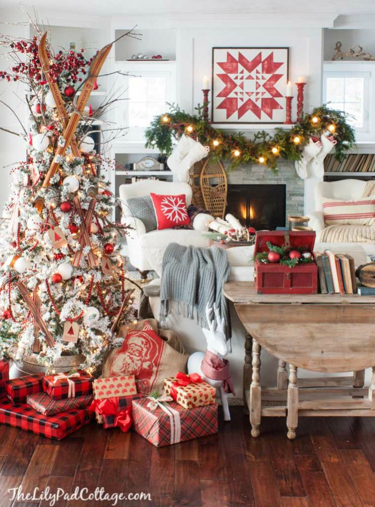 Cozy Ski Lodge Inspired Christmas Tour 58