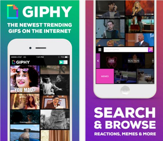 best new apps for iphone giphy app screenshot