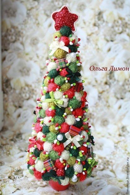 """Новый год 2015 ручной работы. Ярмарка Мастеров - ручная работа. Купить Новогодняя елка """"Шотландка"""". Handmade. Зелёный, что подарить на новый год"""