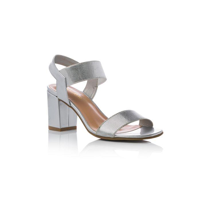Sandali colore argento