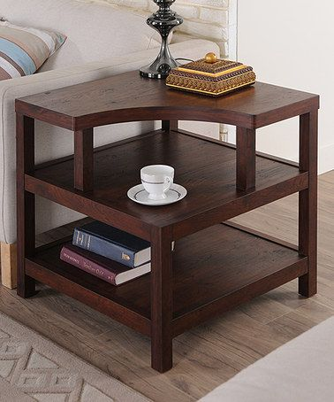 Love this Walnut Modern End Table on #zulily! This would be great for a corner with sofa/chairs on either side.