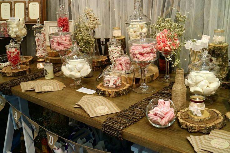 Candy bar rústico para tu boda
