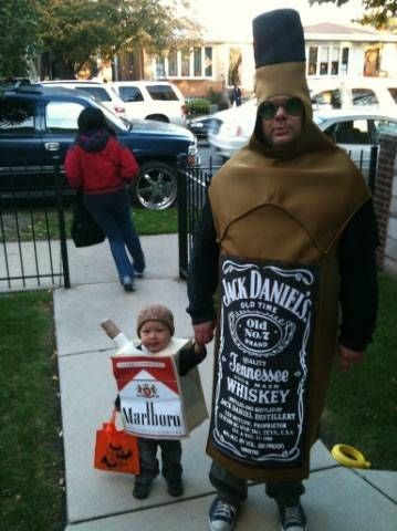 Father of the year award. Sad but actually, if the guy was a can of Budwiser instead of a bottle of Jack Daniels my parents would have thought this was genius!!!