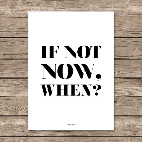 """Image of Lámina """"If not now, when?"""