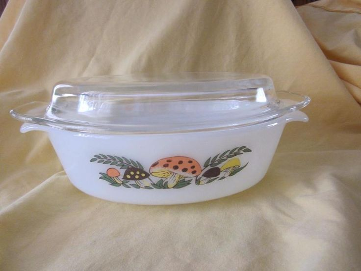FIRE KING SEARS MERRY MUSHROOM ANCHOR HOCKING  COVERED CASSEROLE DISH RARE    | eBay