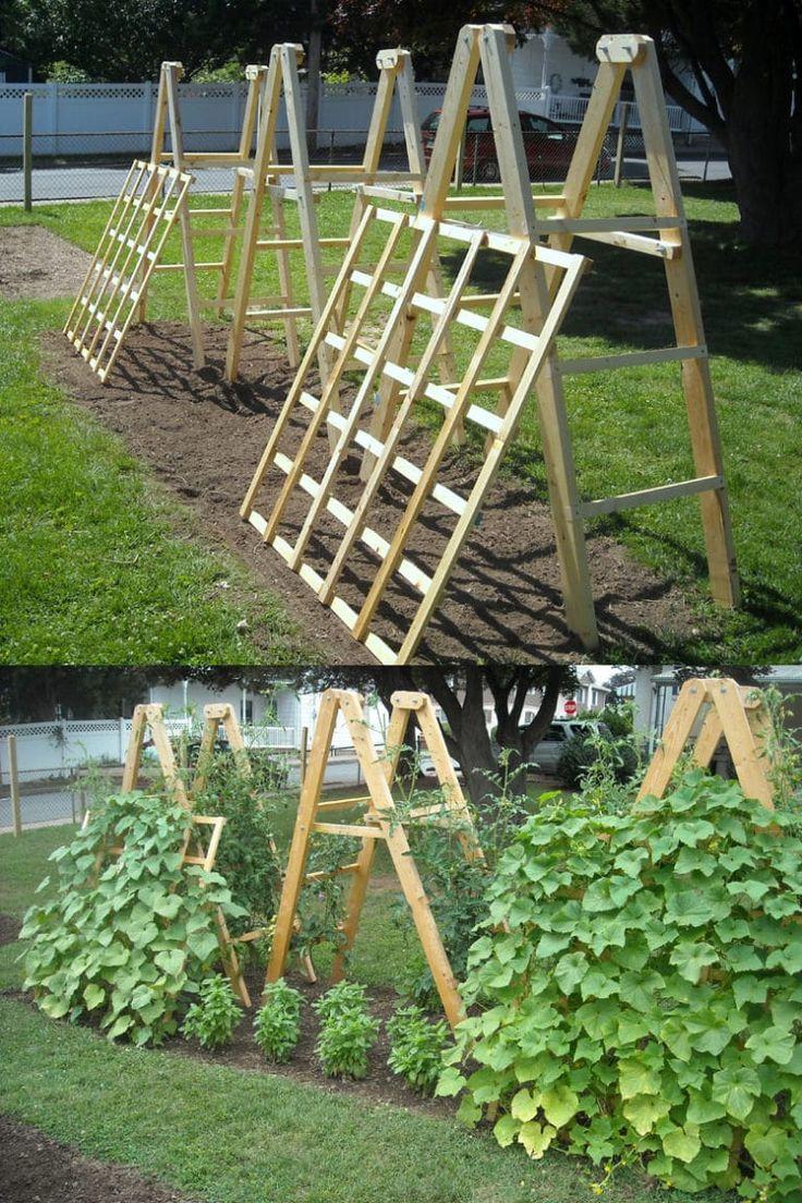 diy wood cucumber trellis