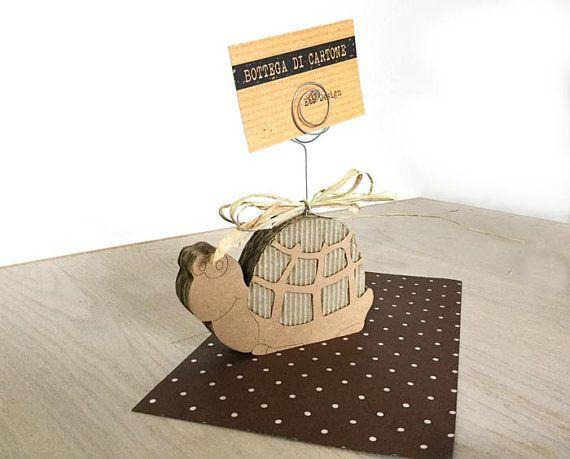 Tartaruga porta card a spirale di cartone di bottegadicartone