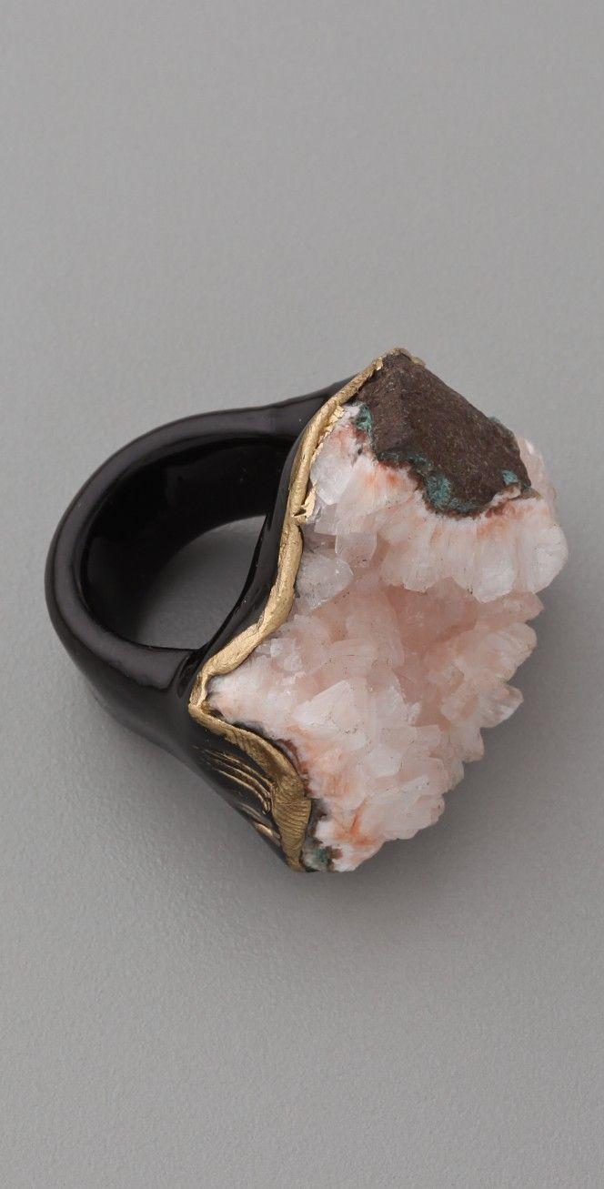 Adina Mills Design Pink Heulandite Ring   SHOPBOP