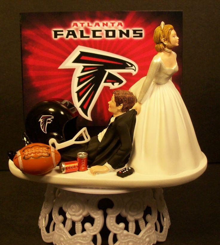 football wedding atlanta falcons and wedding cake toppers on pinterest. Black Bedroom Furniture Sets. Home Design Ideas