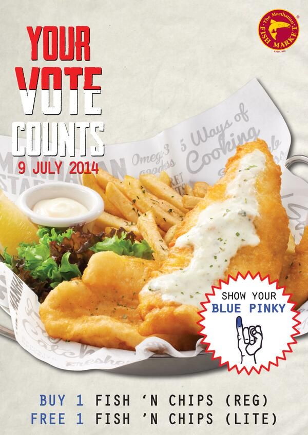 The Manhattan Fish Market: Your Vote Counts, Buy 1 Fish Free 1 Fish @MFMIndonesia