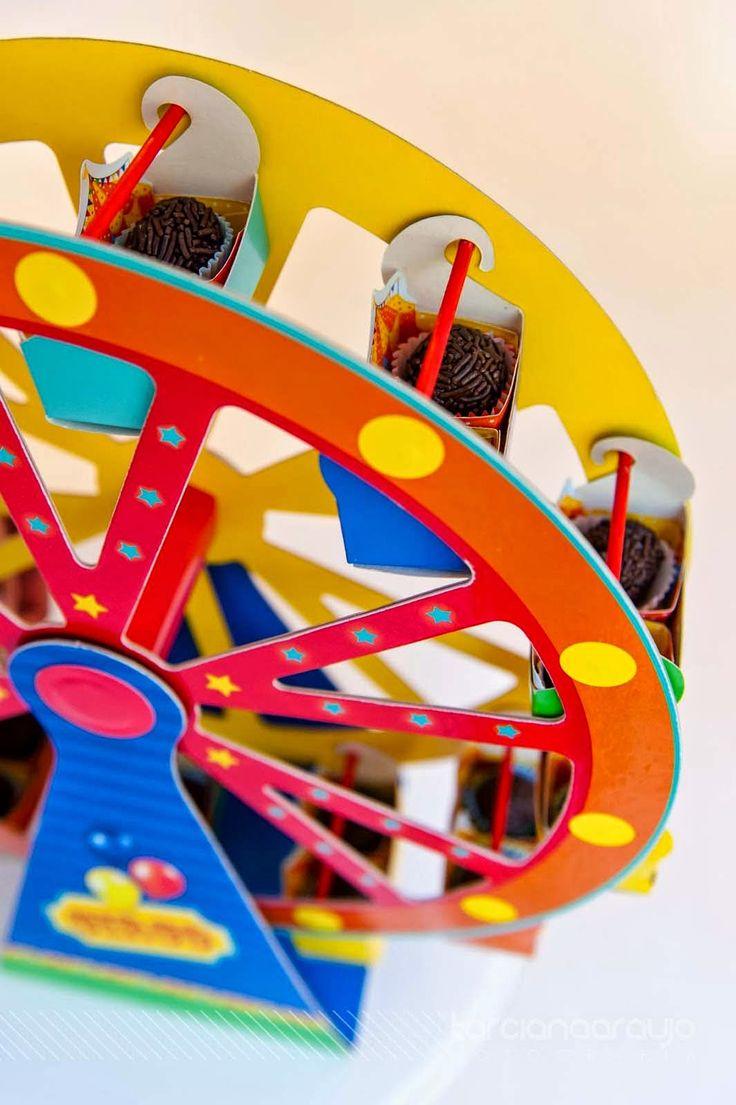Festa_Infantil_Decoração_Circo_Detalhe_Roda_Gigante_Brigadeiro