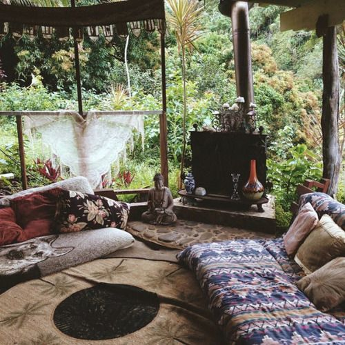 nature, home, and hippie image