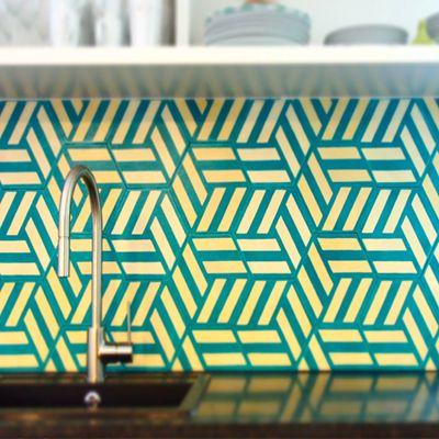 French interior design firm Desjeux Delaye use popham design Hex Knot tiles in a…