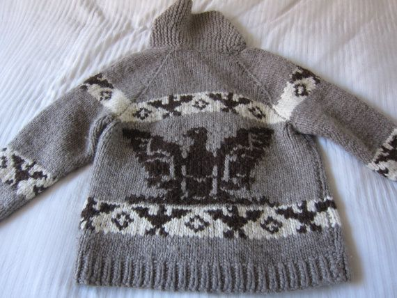 Vintage Cowichan Sweater with Thunderbird Motif by ModernSquirrel, $149.00