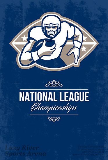 American Football National League Championship Poster  by patrimonio