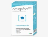 Om3gafortSCC Concentración es un complemento alimenticio diario a base de: Omega-3 EPA/DHA de ALTA CONCENTRACIÓN, Fosfatidilserina, Vitamina E, Vitamina B6-B12 y Ácido fólico.