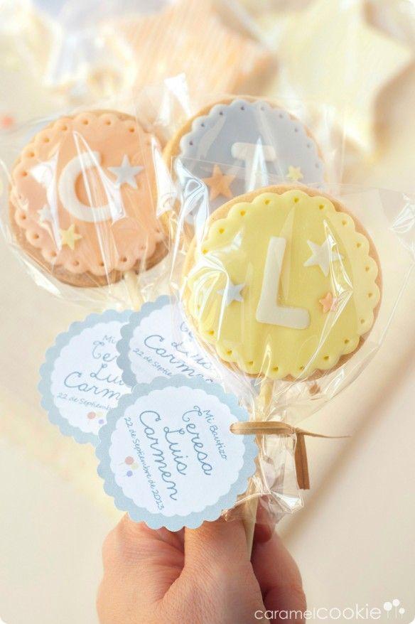 Caramel Cookie   Detalles para un bautizo especial