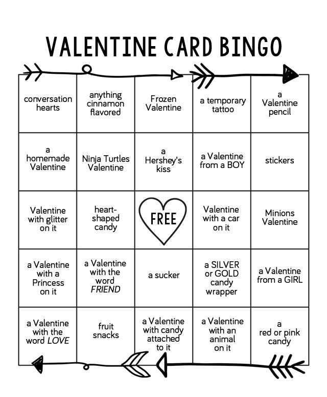 156 best images about Valentines Day at Eighteen25 – Printable Valentines Day Bingo Cards