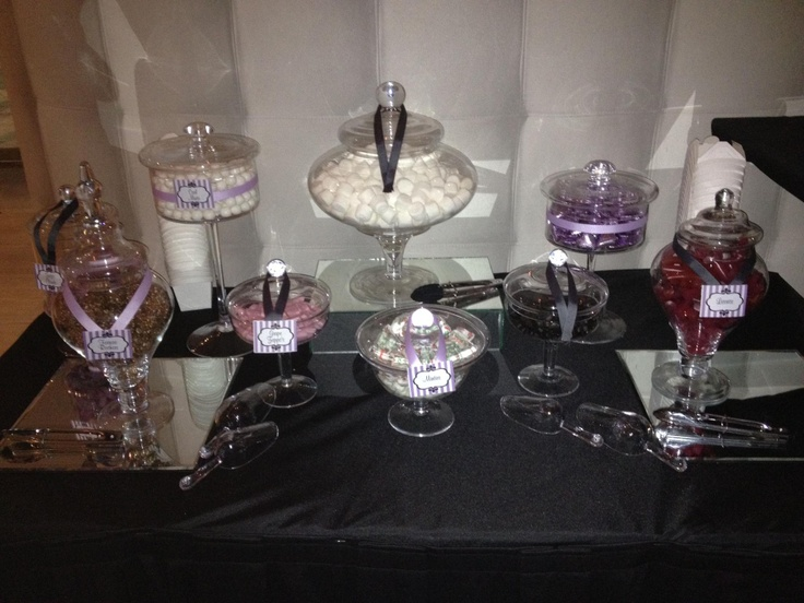 Purple and charcoal grey! We can work with any Colour theme!