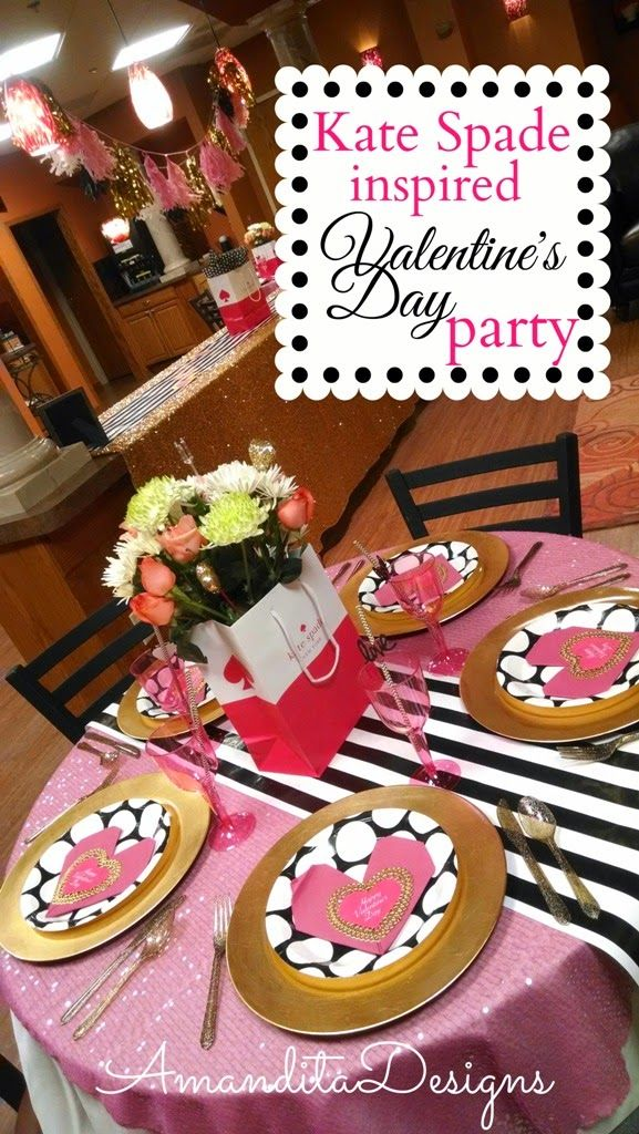 Kate Spade Inspired Valentine's Day Party | Amandita ...