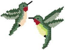 Hummingbird Earring Set by Pamela Welborn AKA Violetbead