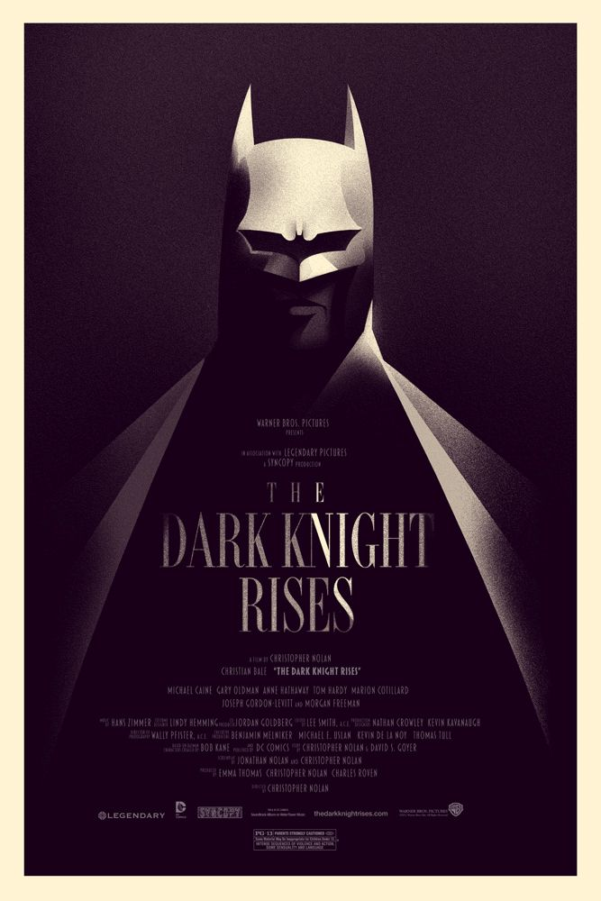 Featured Artist – Olly Moss illustrator Batman, Dark Knight Rises #movie #poster…