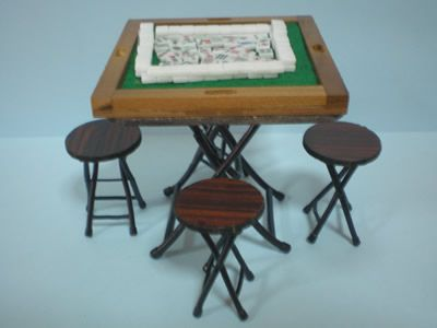 dollhouse miniature mahjong table | by etradersplace & 2042 best Mah Jongg and Me images on Pinterest | Dragon Dragons and ...