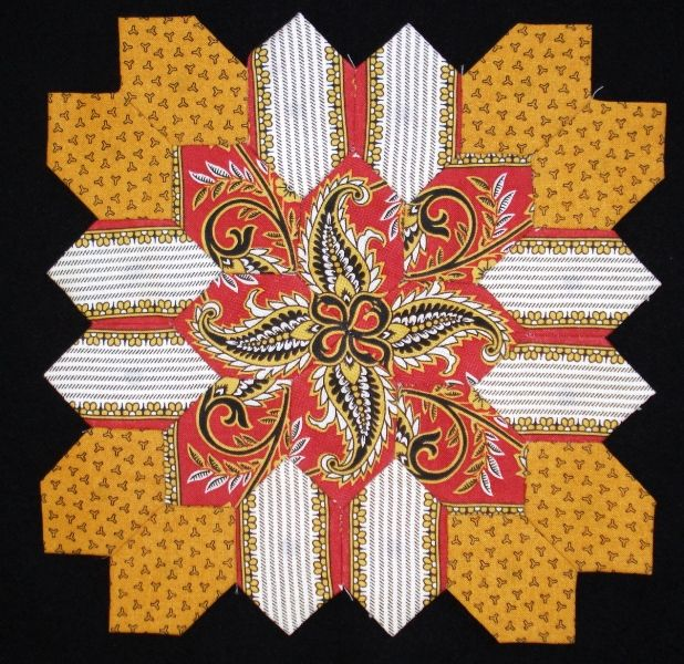 Lucy Boston block 31 by Muriel for the POTC Blog Along at Little Quilts