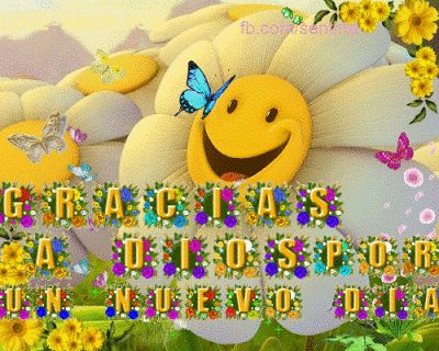 Amor Mio •ღೋεїз: Gracias a Dios por un nuevo dia-tarjetita