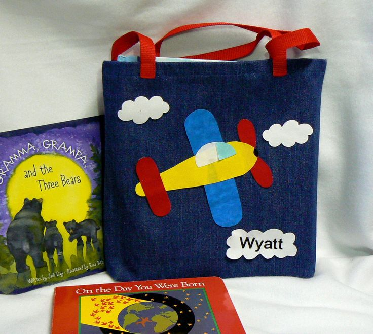 Kids Airplane Tote Book Bag Boys Bags And Girls Childrens