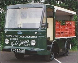 1964 Morrison-Electricar D5 Milk Truck. Most all milk delivery trucks in England were battery powered.
