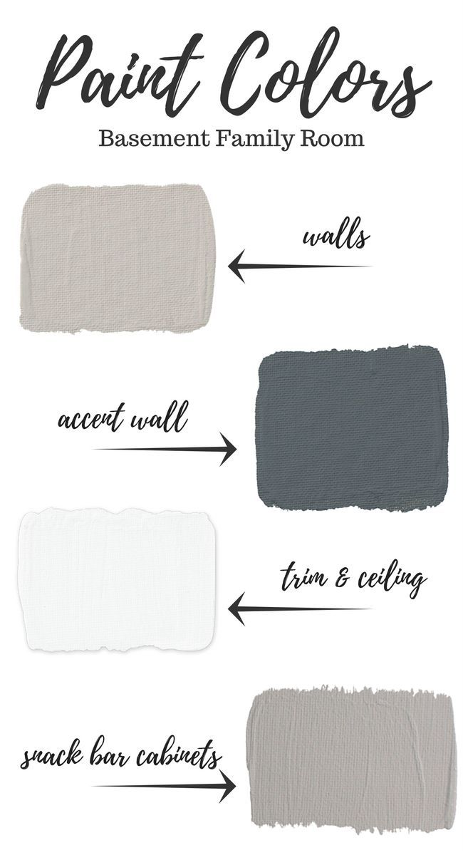 Finishing or renovating your basement? Come see which paint colors we selected to create a warm and welcoming family room!