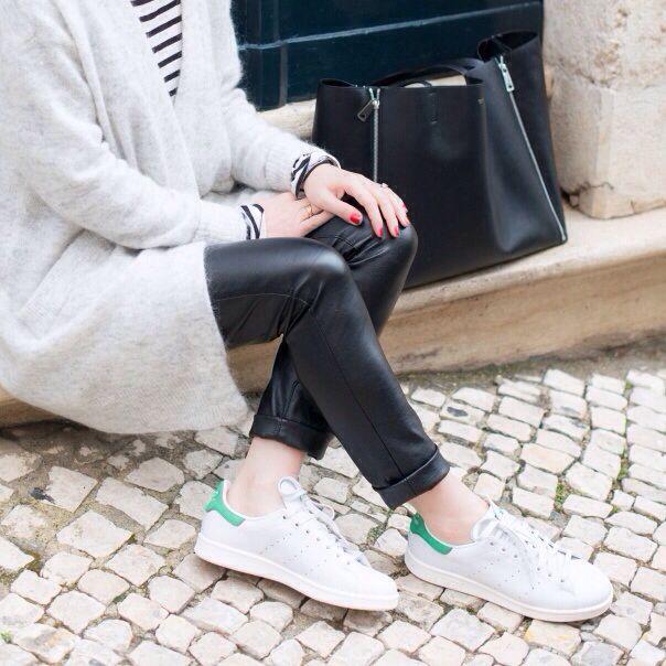Fall/Winter Womens Adidas Stan Smith W White / White-Green