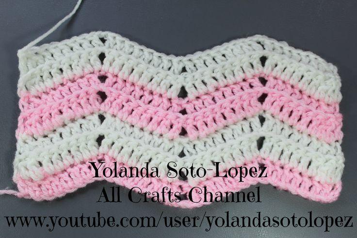 Como tejer Punto ripple en #crochet