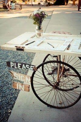 Old door on bicycle wheels ...