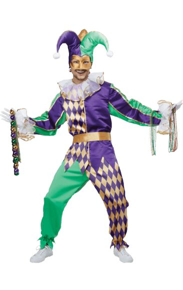 Adult Mardis Gras Jester Costume