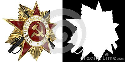 Holiday - 9 may. Victory day. Anniversary of Victory in Great Patriotic War. Order of the Patriotic War. 3D illustration.