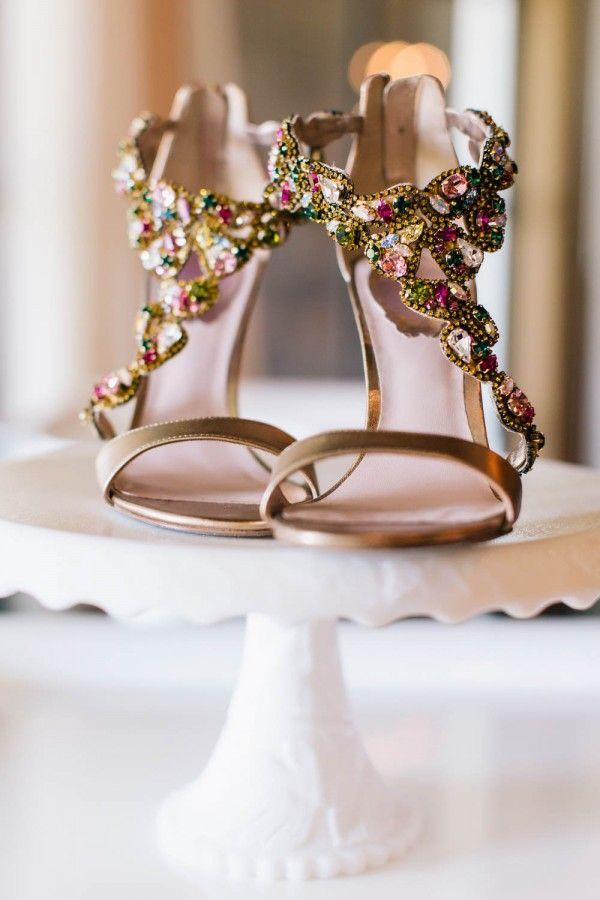 sweet and timeless kiawah island wedding jeweled shoesbridal