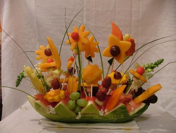 Centro de mesa frutal party food ideas pinterest mesas for Decoracion de frutas para fiestas infantiles